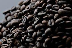 咖啡豆与芳香味道的咖啡因种子 免版税图库摄影
