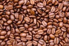 咖啡豆关闭 免版税图库摄影