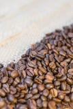 咖啡豆和拷贝空间 免版税库存图片