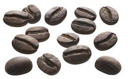 咖啡豆在白色背景设置了2被隔绝 图库摄影