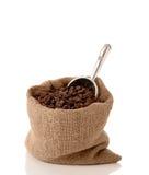 咖啡豆大袋 库存图片