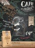 咖啡豆广告 向量例证