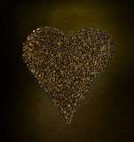 咖啡豆形状喜欢心脏爱 免版税库存照片