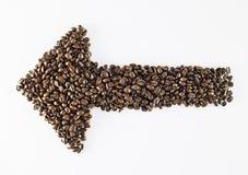 咖啡豆形状 免版税库存图片