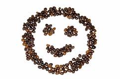 咖啡豆微笑 免版税库存照片