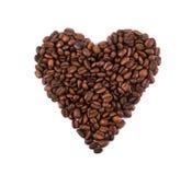 咖啡豆心脏 图库摄影