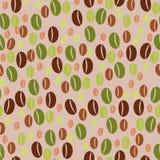 咖啡豆无缝的样式背景 库存图片