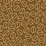 咖啡豆无缝的样式,传染媒介背景 咖啡馆菜单的,商店包装纸重复的黑褐色纹理 平面 库存图片