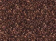 咖啡豆无缝的照片背景纹理的 免版税库存图片