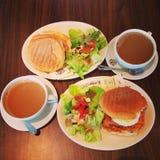 咖啡豆早餐 免版税图库摄影