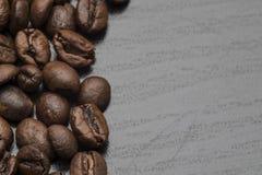 咖啡豆是地面宏指令 库存图片