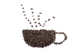咖啡豆杯子 库存例证