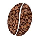 咖啡豆标志 免版税库存图片