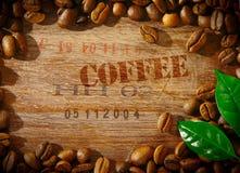咖啡豆框架 免版税库存图片