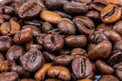 咖啡豆特写镜头 免版税库存照片