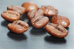 咖啡豆特写镜头 库存照片