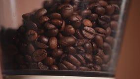 咖啡豆磨咖啡器 股票视频