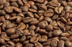 咖啡豆背景关闭 免版税库存图片