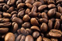 咖啡豆背景宏指令 免版税库存照片