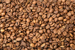 咖啡豆背景 免版税库存照片