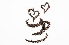 咖啡豆艺术  免版税库存照片