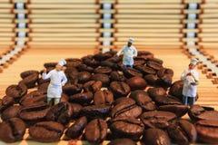 咖啡豆酿造 免版税库存照片