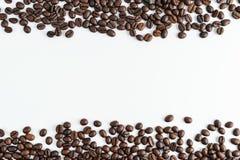 咖啡豆隔绝了顶视图 库存照片