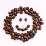 咖啡豆面带笑容  免版税图库摄影