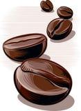 咖啡豆,烤 免版税库存照片