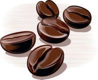 咖啡豆,烤 库存图片