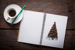 咖啡豆christmass树 免版税库存图片