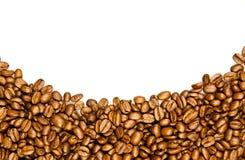 咖啡边界。棕色咖啡豆 库存图片
