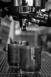 咖啡选项和玻璃 图库摄影