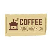 咖啡邮票或lofo设计 库存图片