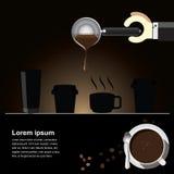 咖啡酿造背景 免版税库存照片