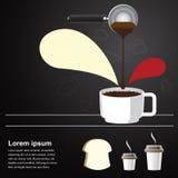 咖啡酿造背景 免版税库存图片