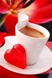 咖啡重点红色 免版税图库摄影