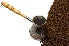 咖啡铜土耳其人 免版税图库摄影