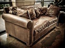 咖啡长沙发界面 图库摄影