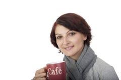咖啡问候 库存照片