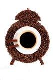 咖啡闹钟 库存照片