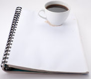 咖啡附注 图库摄影