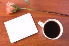咖啡附注 免版税库存图片