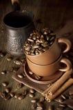 咖啡静物画 免版税库存照片