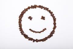 咖啡面带笑容  库存图片