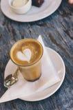 咖啡顶上的看法  免版税库存图片