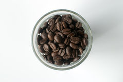 咖啡顶视图豆 库存图片