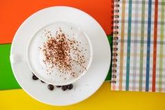 咖啡顶视图 免版税库存照片