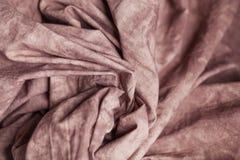 咖啡颜色被检查的织品作为背景 Bokeh,时尚,衣裳,织地不很细背景,缝合的产业,舒适和 图库摄影