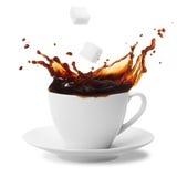 咖啡飞溅 库存图片